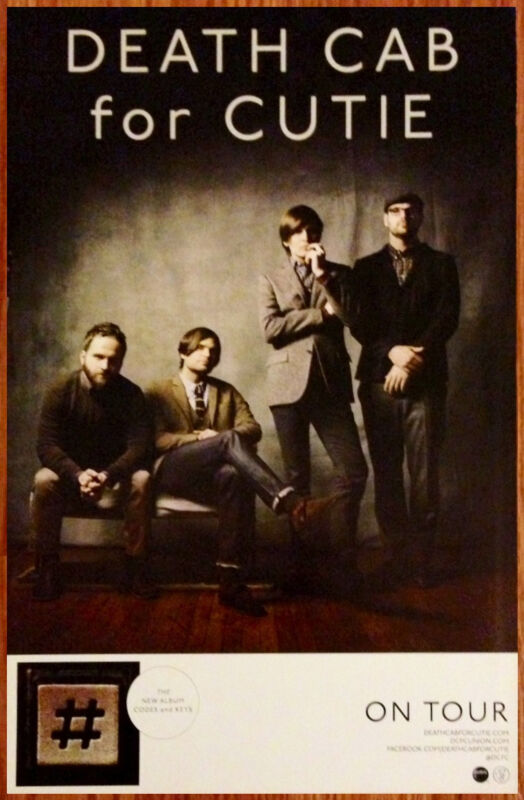 DEATH CAB FOR CUTIE Codes & Keys Ltd Ed New RARE Tour Poster +FREE Indie Poster!