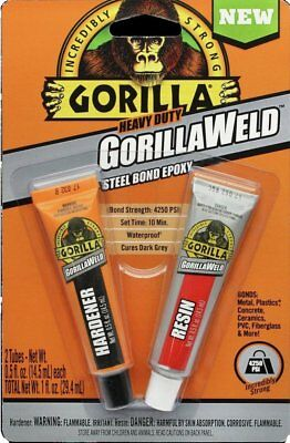 Gorilla Glue 4330101 Heavy Duty Gorillaweld Steel Bond 2-part Epoxy