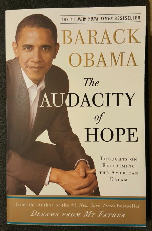THE AUDACITY OF HOPE- HAND SIGNED BY US PRESIDENT BARACK OBAMA-1ST EDITION PAPER