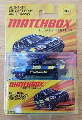 Matchbox LESNEY EDITION (2010) BMW X5 Police .