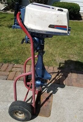 Vintage ESKA 5 HP Outboard Boat Motor How much is this worth if it runs?