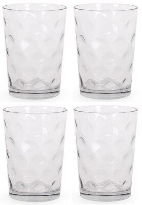 4x Cocktail whisky drinking glasses tumblers highball ALIAN circles 500ml
