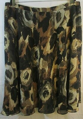 COLDWATER CREEK Women's Multi-Color Polyester Reversible Skirt 2XL
