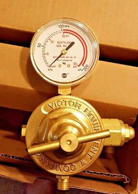 New Victor Acetylene Pressure Regulator 0781-2500 S360a-025