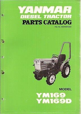 Yanmar Ym169 Ym169d Diesel Tractor Parts Manual