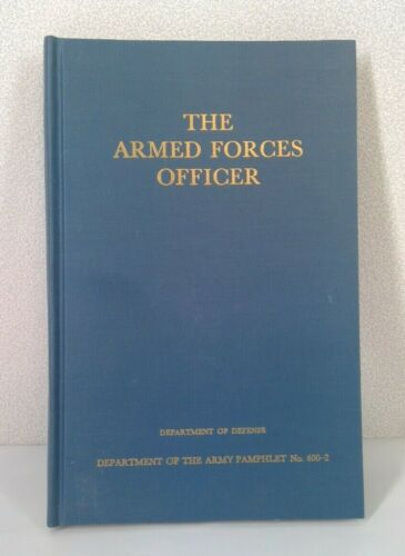 The Armed Forces Officer Hardcover Book 1950 Department of Defense No 600-2