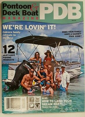 Pontoon & Deck Boat PDB Magazine Key Retreat Fishing April 2015 FREE SHIPPING JB