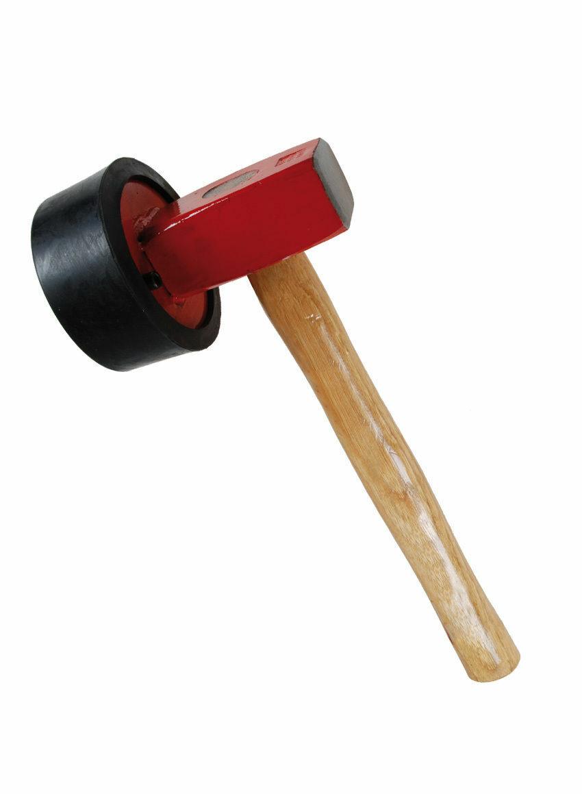 Plattenlegerhammer Pflasterhammer Gummihammer 1500g Hammer