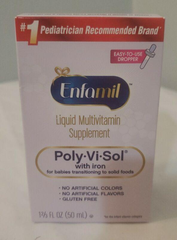 Enfamil Poly-Vi-Sol Liquid Multivitamin Supplement for Infants Exp 5/2021