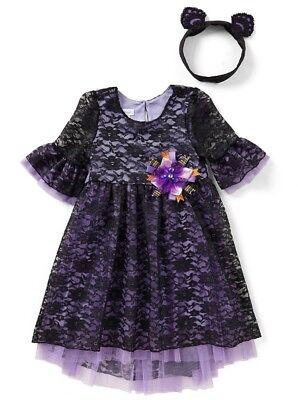 Bonnie Jean Little Girl's Halloween Headband & Lace Fit & Flare Dress-5 or 6 ](Halloween 5 Little Girl)