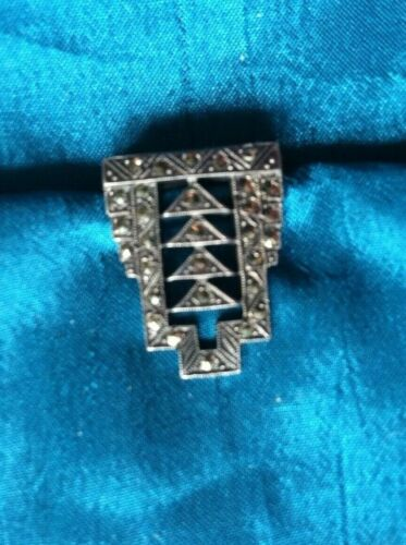 small vintage sterling dress clip - lees that an inch