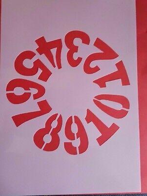 1155 Schablone Zahl Wandtattoo Möbel Wandbild Airbrush Stencil Dekoration Mylar