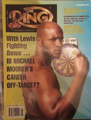 RING MAGAZINE: 1994 November (Michael Moorer front cover), fine/clean!