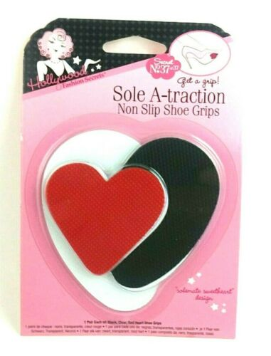 Red Heart Set Self Adhesive Shoe Grip Pads Non-slip Rubber Protector Pack - 047