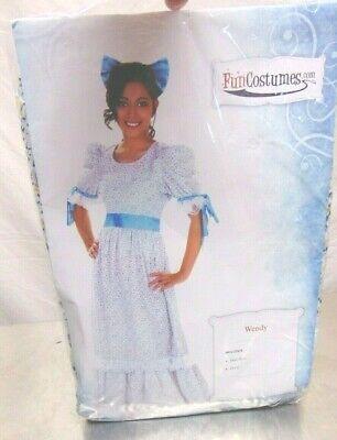 Halloween Peter Pan Wendy Cosplay Costume Princess Light Blue Long Dress 14+ Up