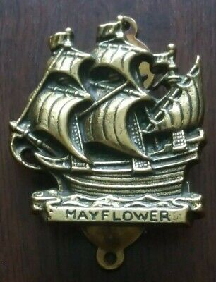Old Brass Door Knocker - MAYFLOWER.   VERY GOOD CONDITION.