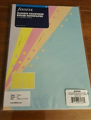 Filofax Classic Ruled Assorted Color A5 Size Notepaper - 340508