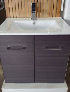 Bathroom Vanity Cabinet Wall Hung 600 mm 2 Colours Available Sale