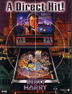 DIRTY HARRY Pinball FLYER Original NOS Promo Art 1995 Clint Eastwood Williams