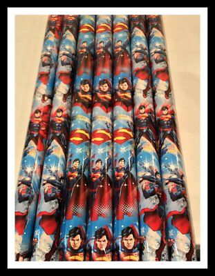 NIP NEW SUPERMAN SNOWFLAKE CHRISTMAS HOLIDAY WRAPPING PAPER ROLLS 70 SQ FT X - Snowflake Wrapping Paper
