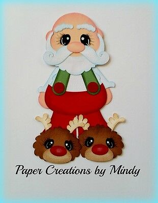 Craftecafe Mindy Christmas Santa premade paper piecing for scrapbook page album