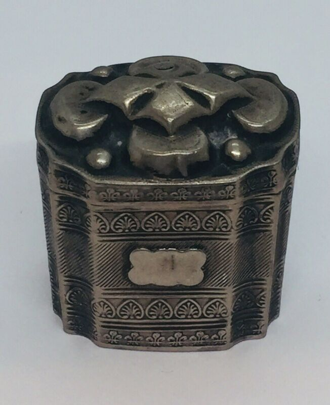 Antique Dutch Sterling Silver Ornate Hand Made Box