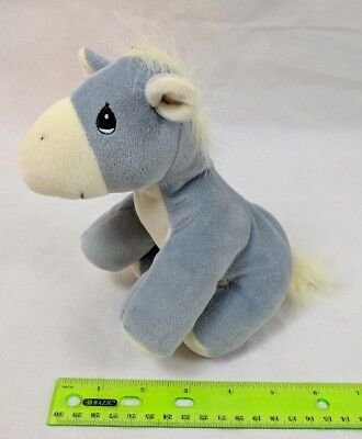Precious Moments Tender Tails Donkey Gray w/ Yellow Plush Stuffed Animal Enesco