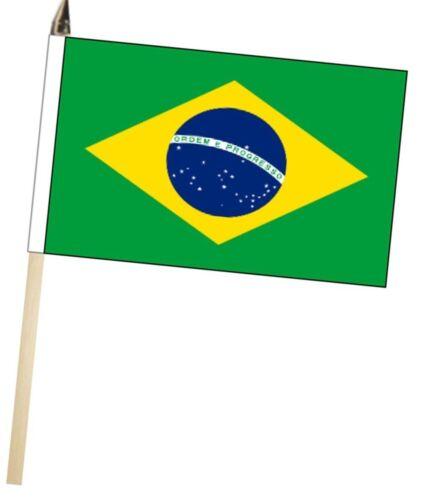 Brazil Large Hand Waving Courtesy Flag