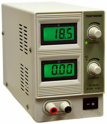 Tekpower Tp1803d Variable Dc Power Supply 0-18vdc0-3a Regulated Power Supply