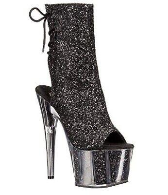 "Pleaser Adore-1018G Exotic Dancing Clubwear Ankle/Mid Calf 7"" Heel Platform Boot"