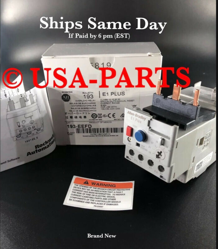 ALLEN BRADLEY 193-EEFD Overload Relay 9-45A (3 Phase)* Ships Same Day * New