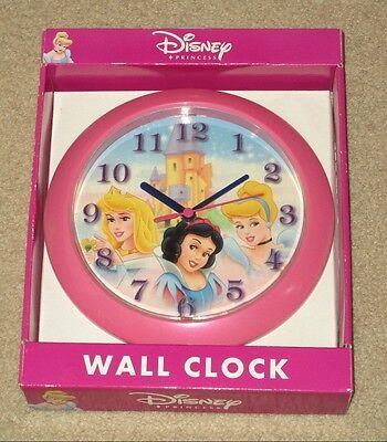 DISNEY PRINCESS Cinderella Snow White Sleeping Beauty Castle Wall Clock NEW Last