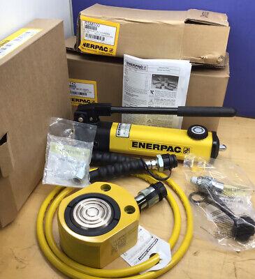 Enerpac Rsm500 50 Ton Hydraulic Cylinder Set P142 Pump Cr400 Hc7206 New