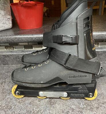 Rollerblade Mens Size 11 Aggressive Inline Skates Strap Black 4-Wheel Tarmac CE