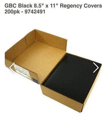 New Presentation Covers Gbc Linen Weave Ltr Size Black Regency Rnd Corner 200 Ct