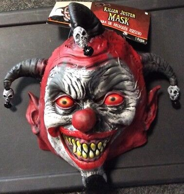 HALLOWEEN KILLER JESTER MASK ADULT SIZE. NEW WITH TAGS. AWESOME LOOKING BEST ](Halloween Best Masks)