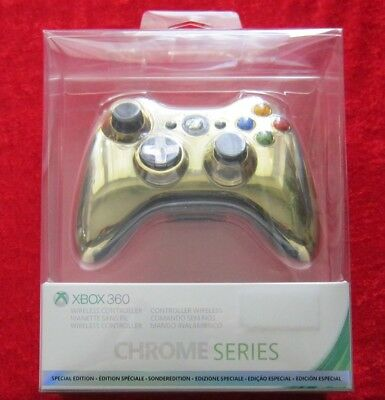Original Wireless Controller Chrome Series Farbe: Gold, XBox 360, Neu OVP