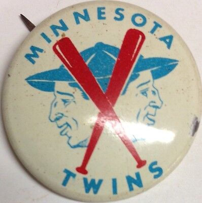 1960's Vintage Minnesota Twins Baseball 3/4 Inch Pin Pinback