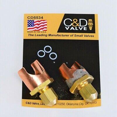 Cd Braze-on Self-piercing Copper Saddle Valve For 34 Tube Cd5534 Package Of 2