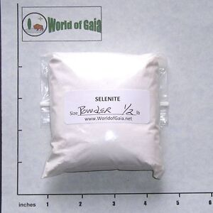 SELENITE White Powder 1/2 lb bulk stones Satin Spar, trailings from cutting