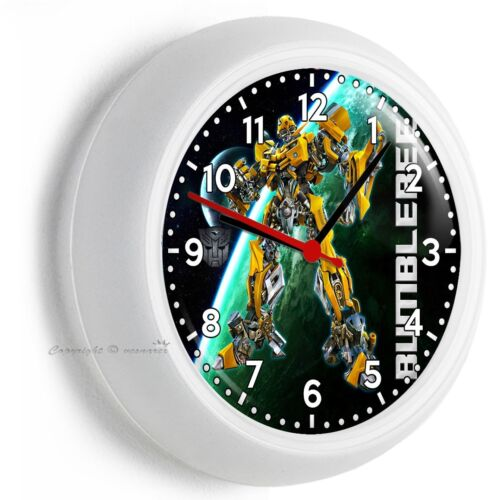 TRANSFORMERS AUTOBOT BUMBLE BEE CAR WALL CLOCK BEDROOM MAN CAVE ROOM HOME DECOR