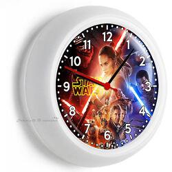 STAR WARS FORCE AWAKENS JEDI REBELS GALAXY WALL CLOCK BOYS ROOM MAN CAVE DECOR