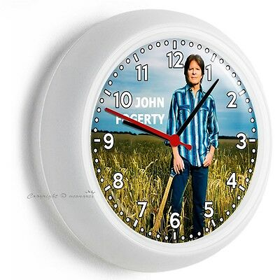 JOHN FOGERTY COUNTRY ROCK AND ROLL SINGER  WALL CLOCK BEDROOM TV ROOM HOME - Rock And Roll Room Decor
