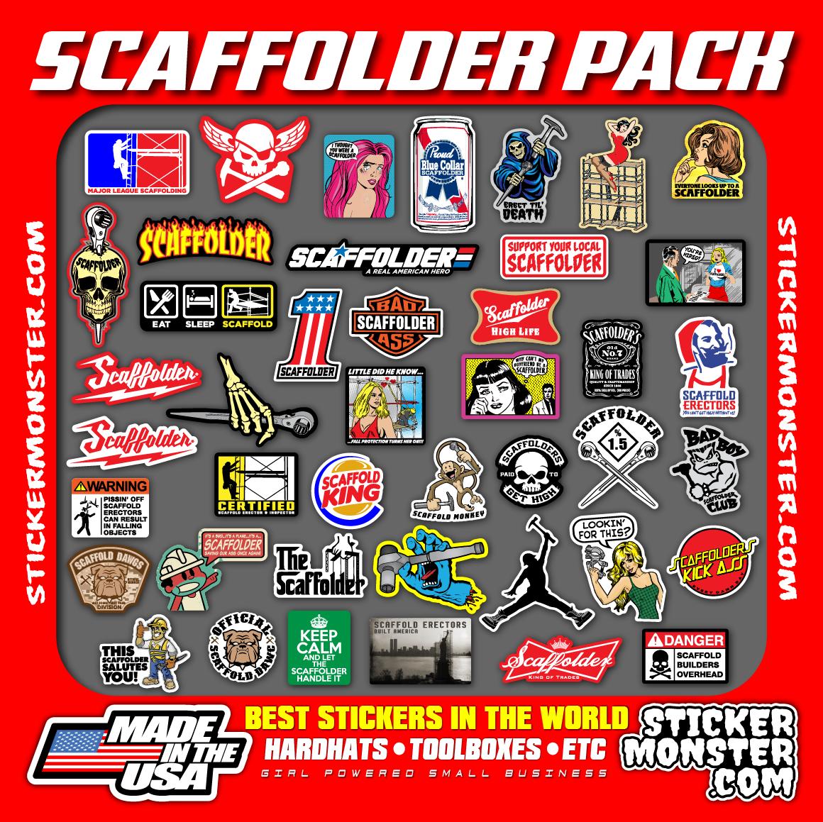 Home Decoration - SCAFFOLDER (40+) Hard Hat Stickers HardHat Sticker & Decals, Scaffold Carpenter