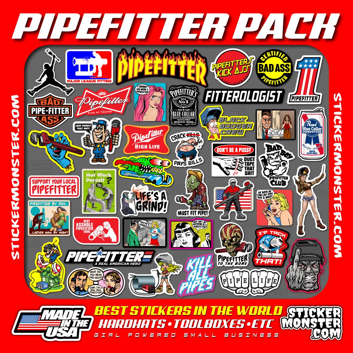 Home Decoration - PIPEFITTER WELDER (40) Hard Hat Stickers HardHat Sticker & Decals, Welding Hood