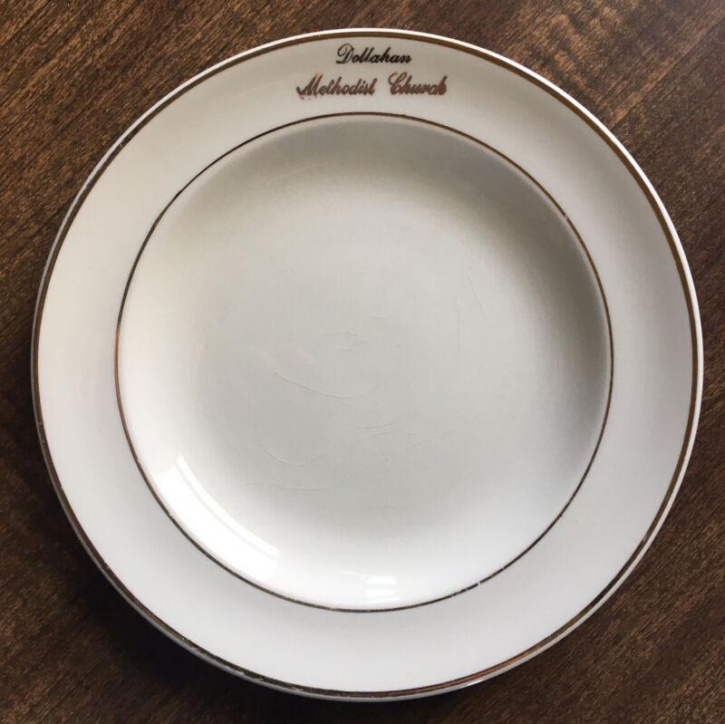 "Vintage 1950s ""Dollahan Methodist Church"" Plate, Marion-Kay, Brownstown Indiana"