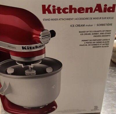 Kitchenaid Kica 0WH Ice Cream Maker Stand Mixer Attachment 2qt