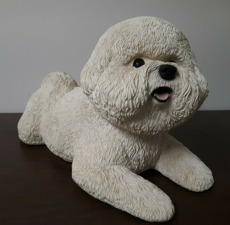 Shih Tzu Life Size Statue Solid Cast Stone Material