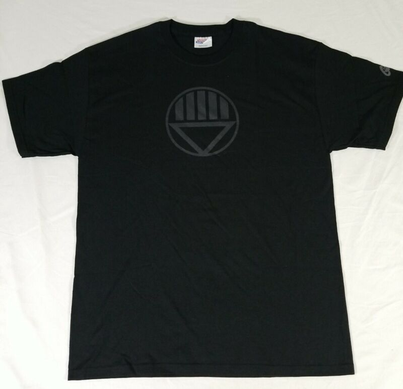 DC Comics Green Lantern Black Lantern Corps Logo Graphic T-Shirt Adult L NWOT