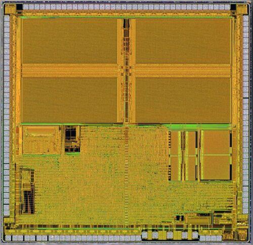 36pcs Winbond ViewTalk W538T808 8bit LCD MIDI MCU 6502 cpu silicon dies wafer
